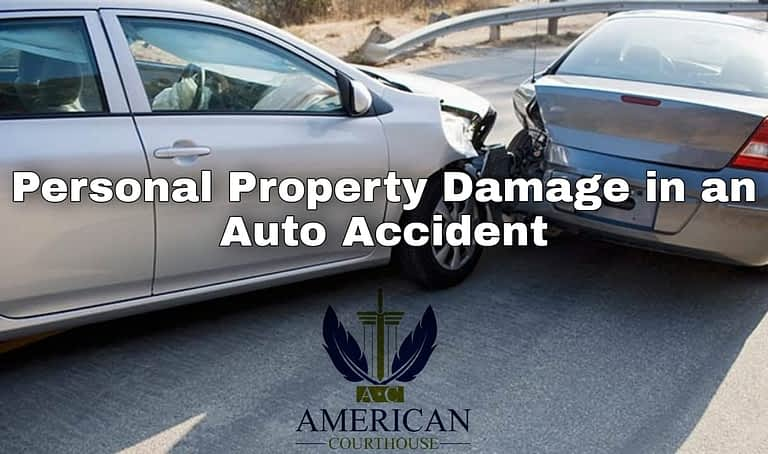 Personal Property Damage in an Auto Accident